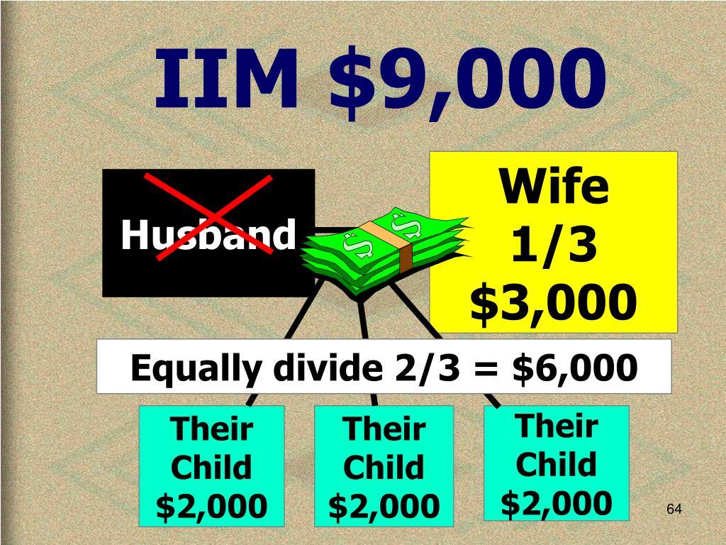 IIM $9,000
