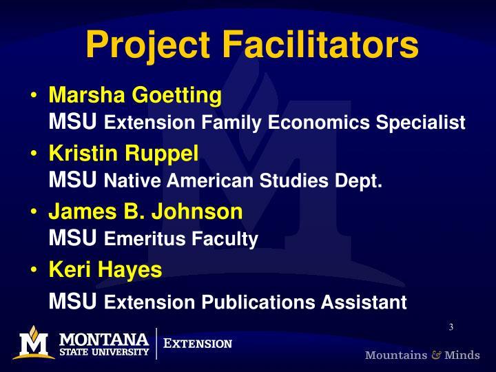 Project facilitators