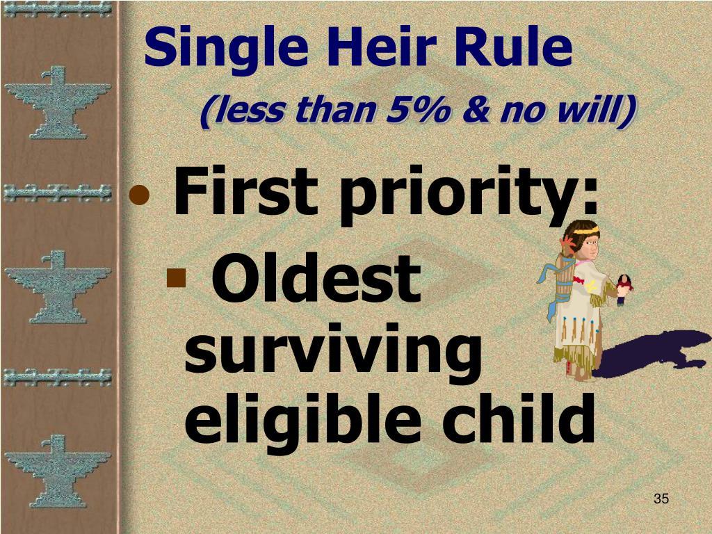Single Heir Rule