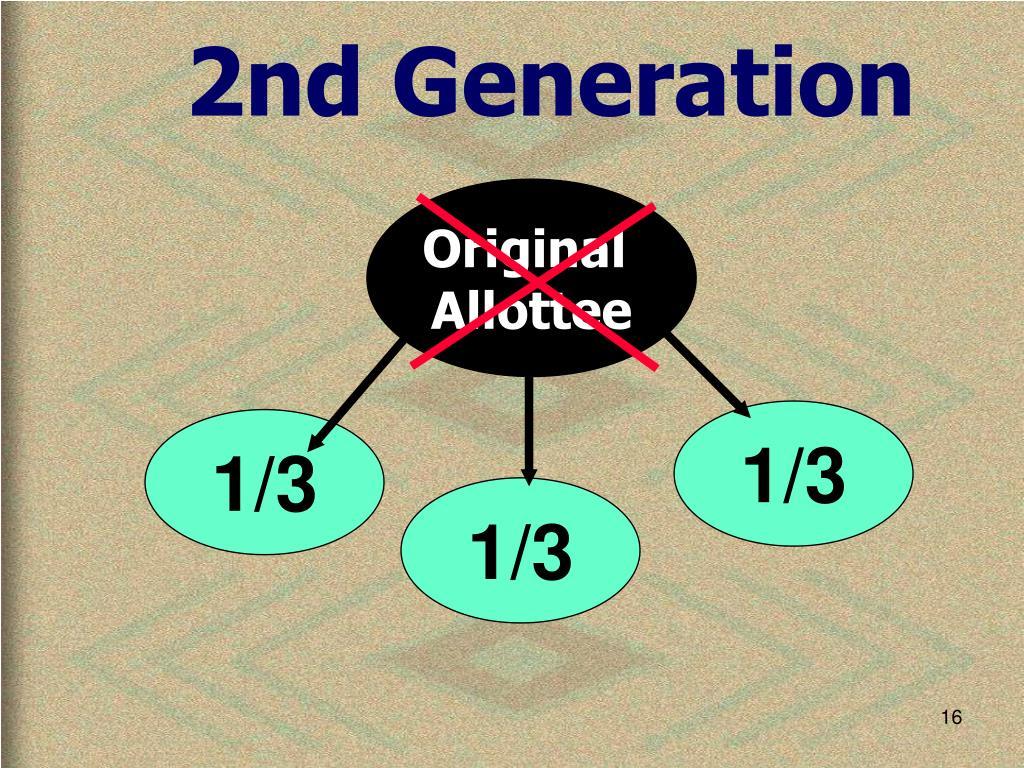 2nd Generation