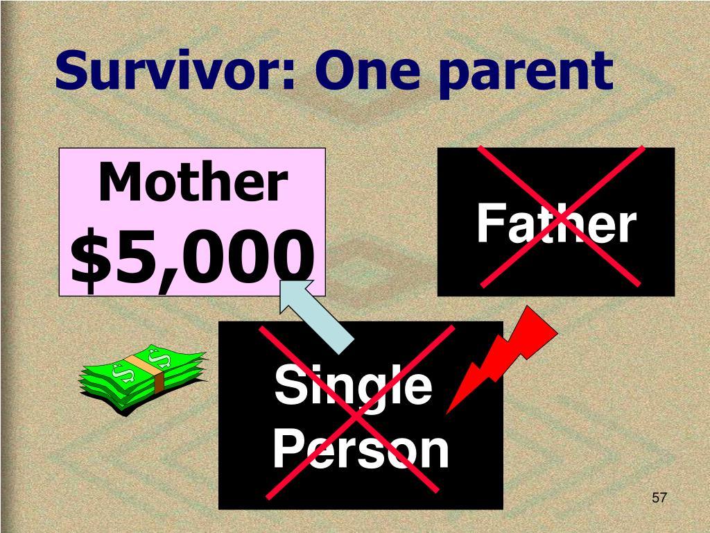 Survivor: One parent
