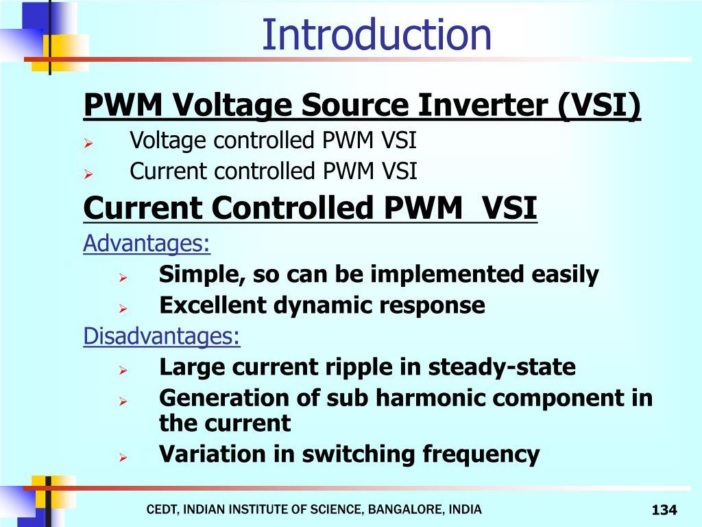 PWM Voltage Source Inverter (VSI)
