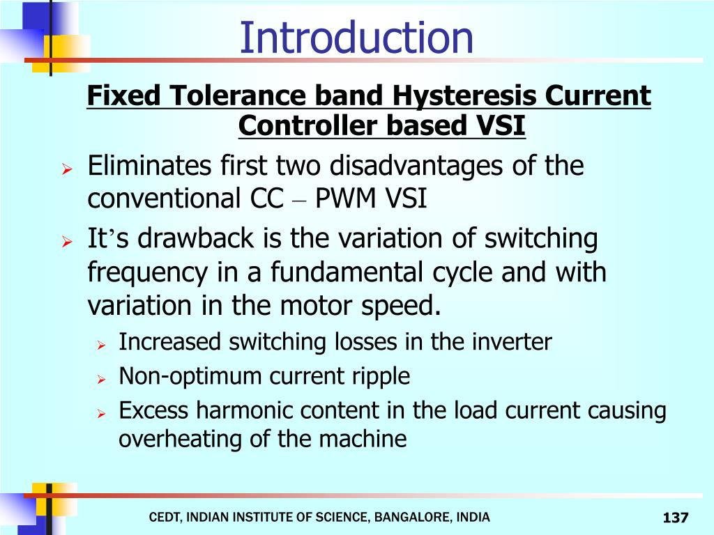 Fixed Tolerance band Hysteresis Current Controller based VSI