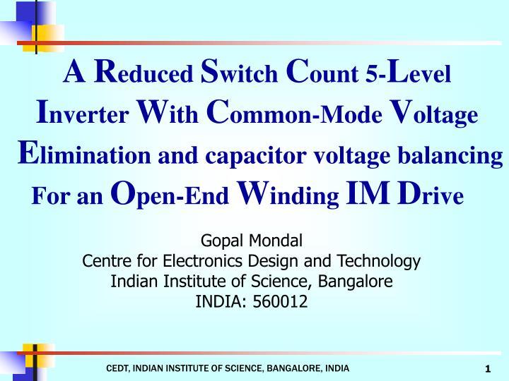 Cedt indian institute of science bangalore india