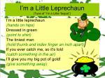 i m a little leprechaun tune of i m a little teapot