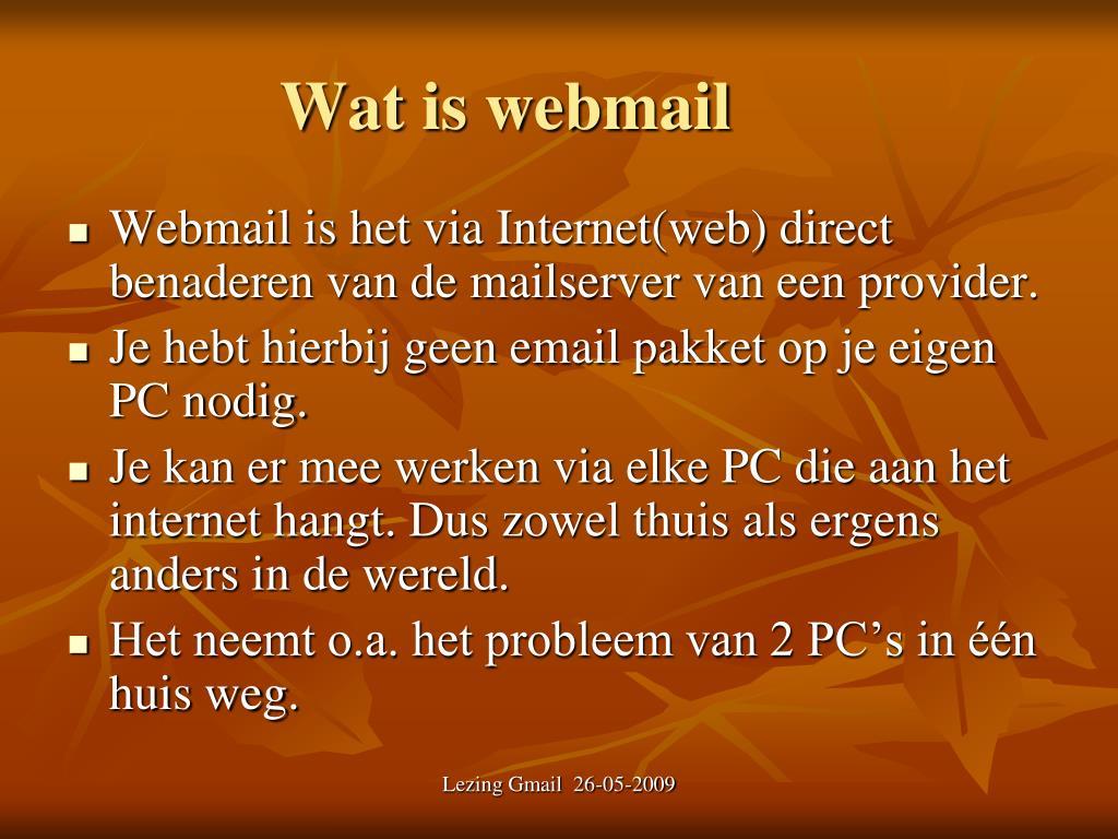 Wat is webmail
