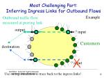 most challenging part inferring ingress links for outbound flows