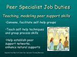 peer specialist job duties12