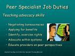 peer specialist job duties13