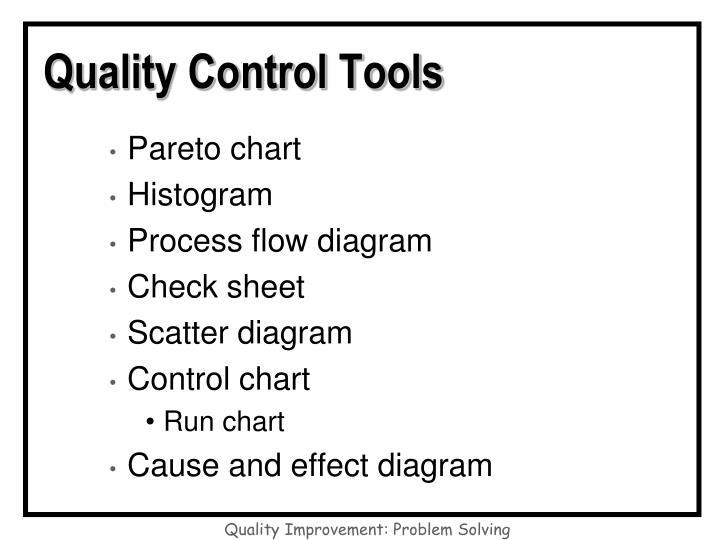 Quality control tools