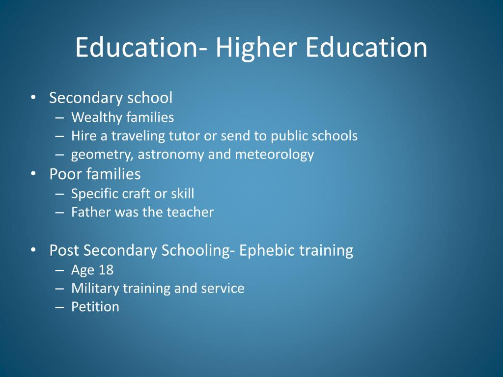 Education- Higher