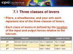 7 1 three classes of levers