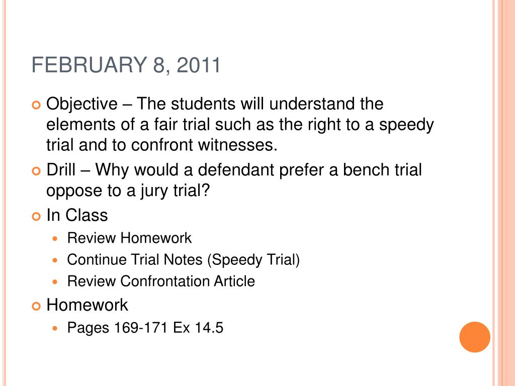 Download Free Right To A Speedy Trial Court Cases Software