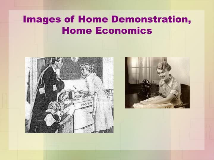 Images of home demonstration home economics