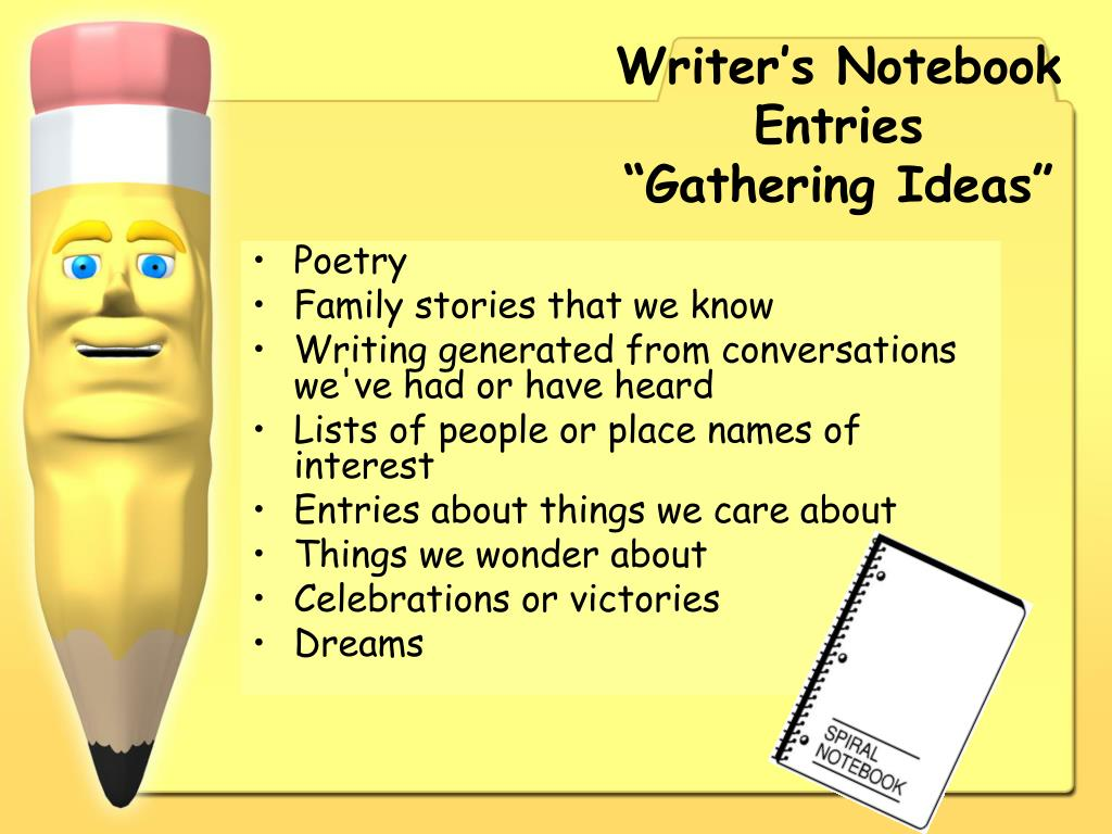 Writer's Notebook Entries