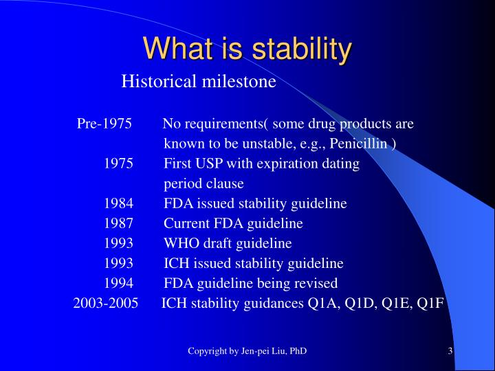 Fda expiration dating and stability testing for human drug products