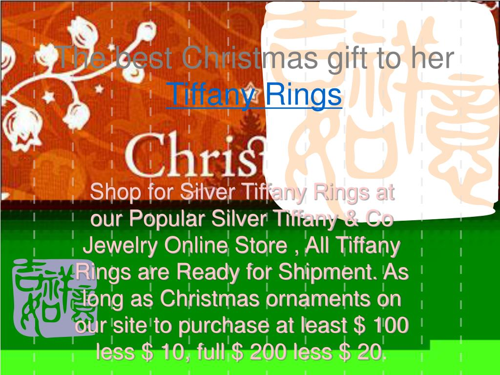 the best christmas gift to her tiffany rings l.