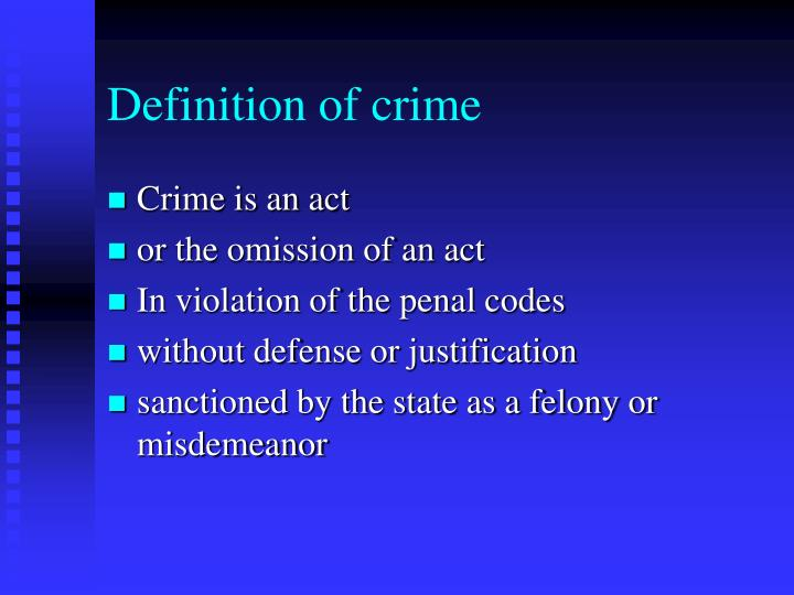 criminal acts of omission