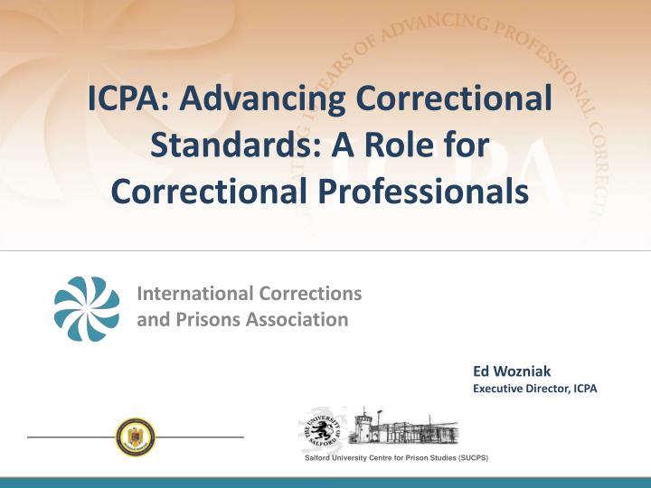 Icpa advancing correctional standards a role for correctional professionals