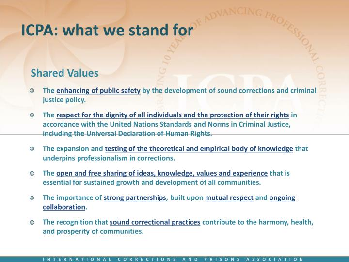 ICPA: what we stand for