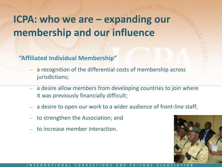 ICPA: who we are – expanding our membership and our influence