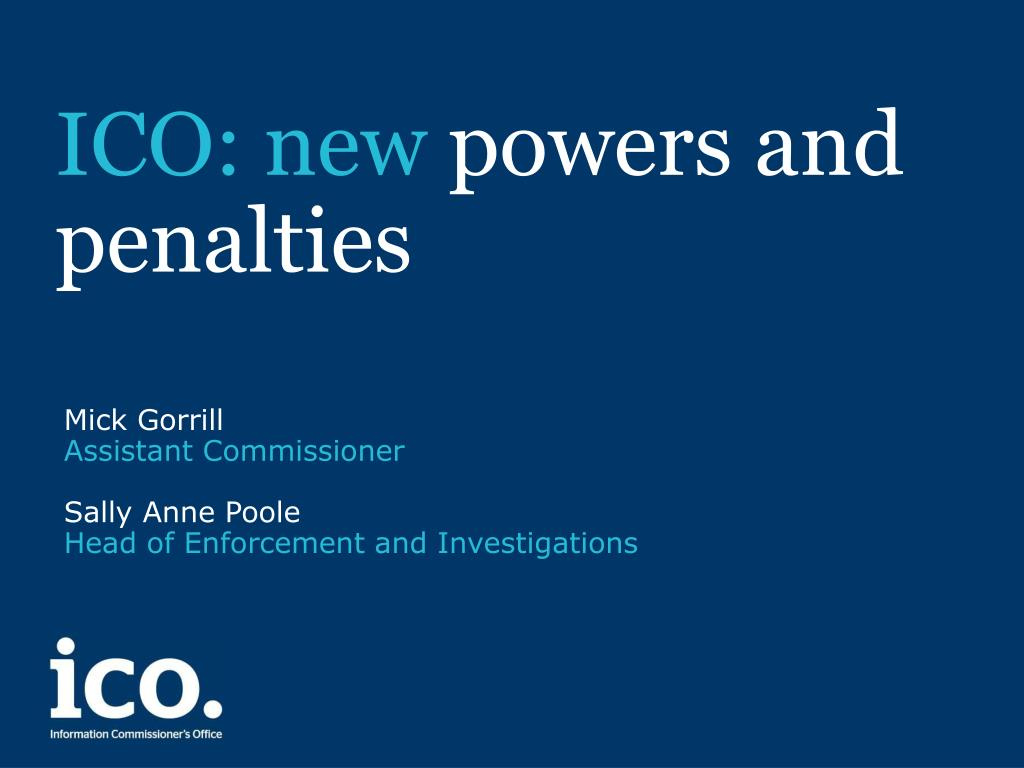 ico new powers and penalties