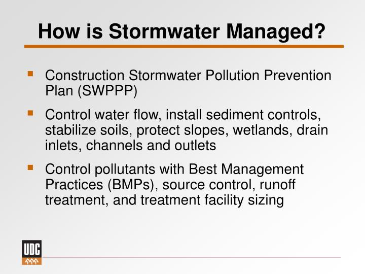 How is Stormwater Managed?