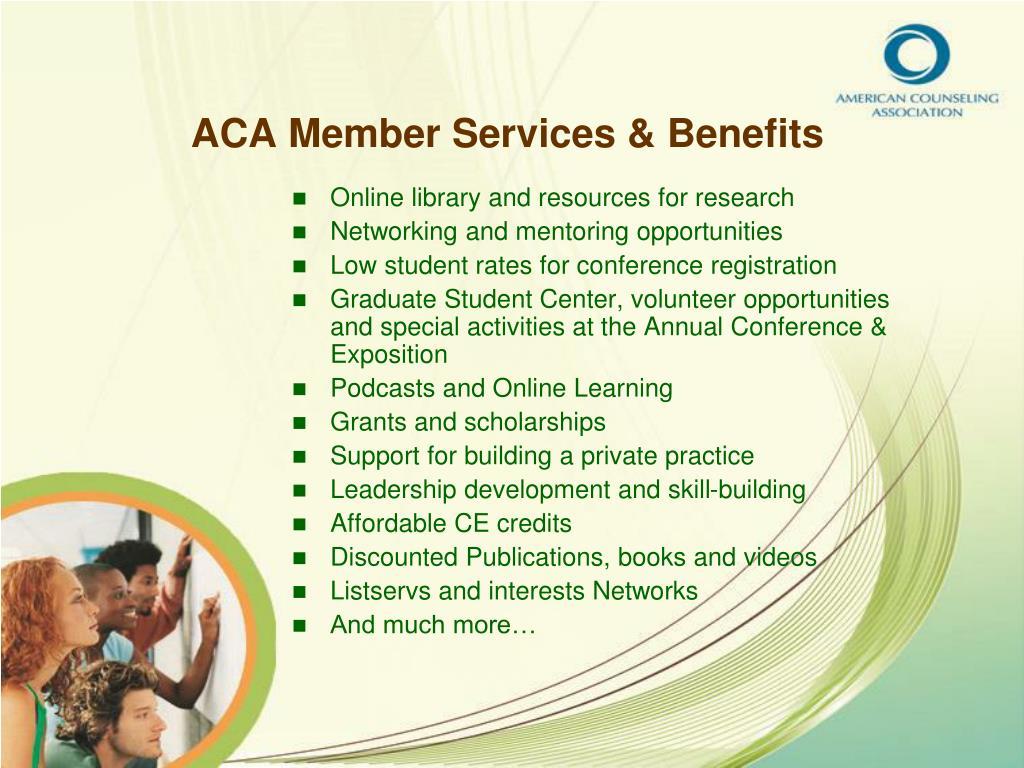 ACA Member Services & Benefits
