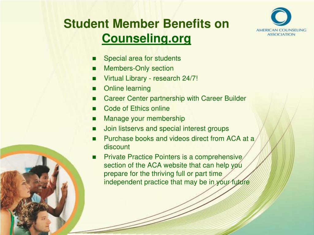 Student Member Benefits on