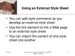using an external style sheet13