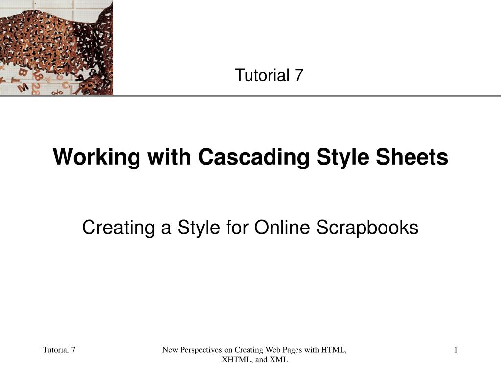 working with cascading style sheets l.