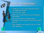 benefits of registration