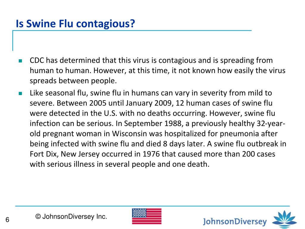 Is Swine Flu contagious?