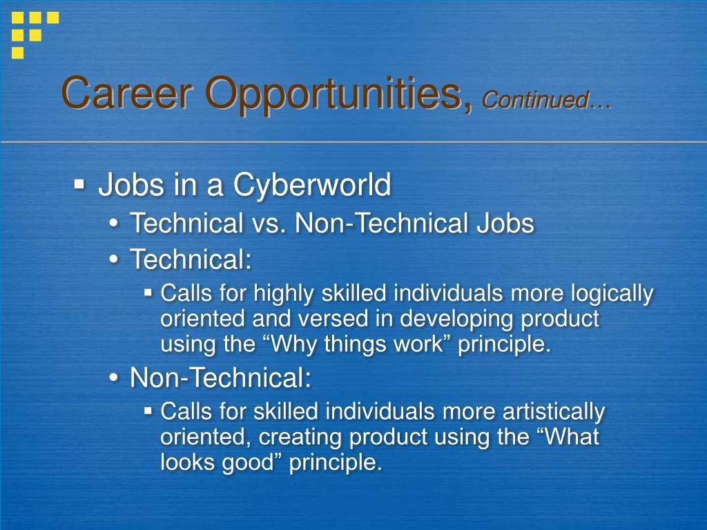 Career Opportunities,