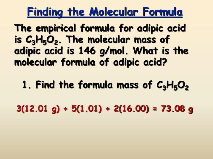 Finding the Molecular Formula