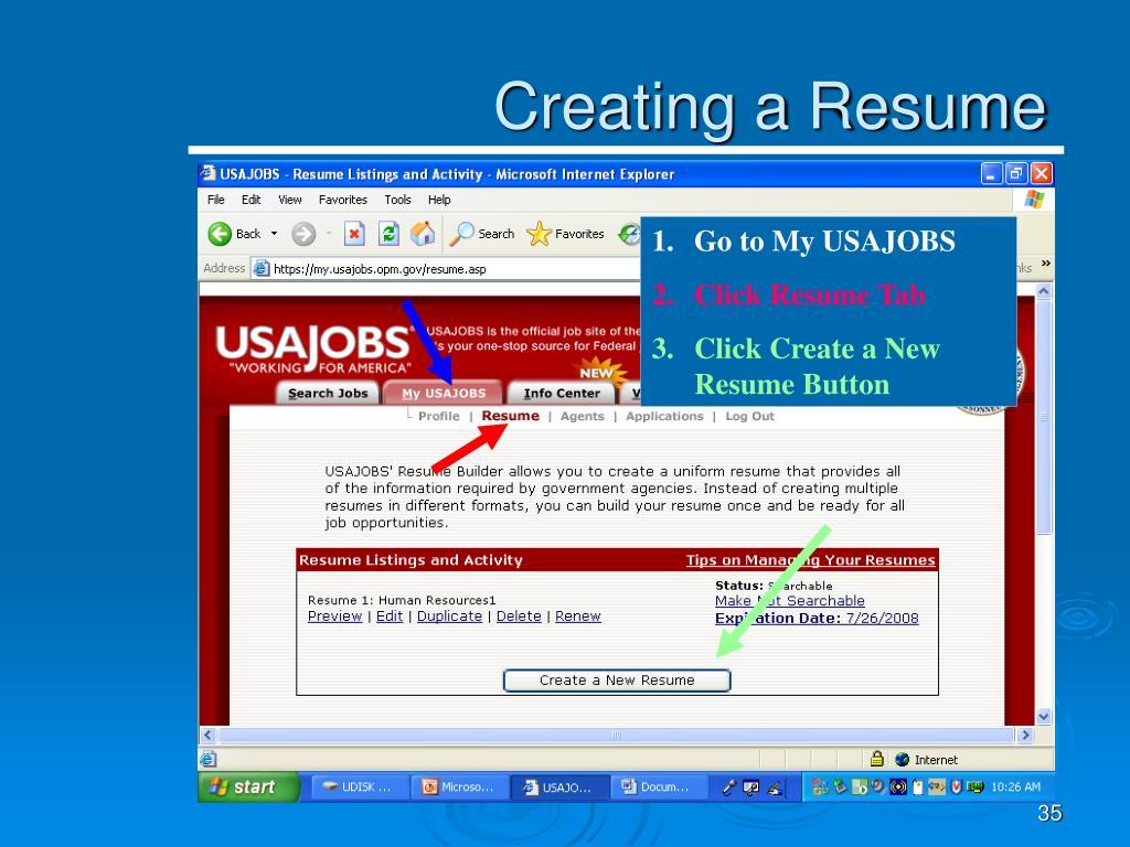 PPT - USA Staffing/USA Jobs Application Procedures