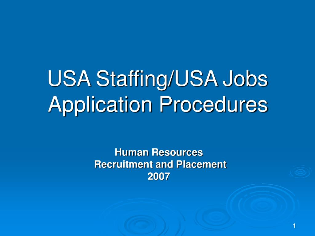 usa staffing usa jobs application procedures l.