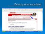 vacancy announcement16