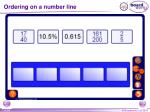 ordering on a number line