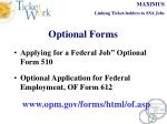 optional forms