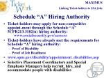 schedule a hiring authority