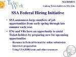 ssa federal hiring initiative