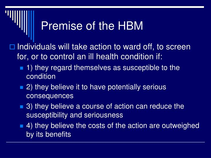 Premise of the hbm