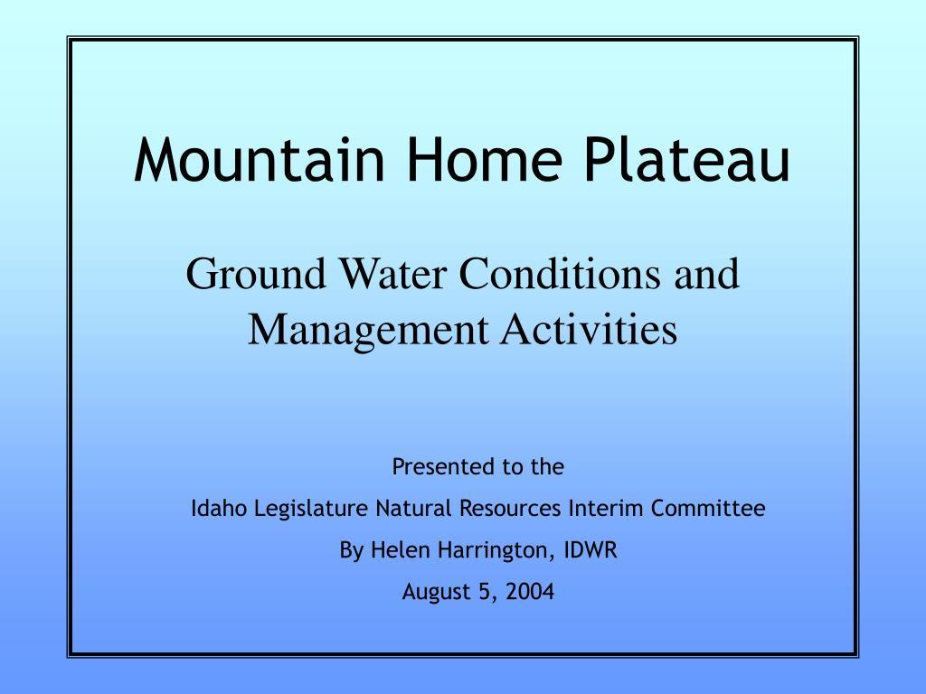 Mountain Home Plateau