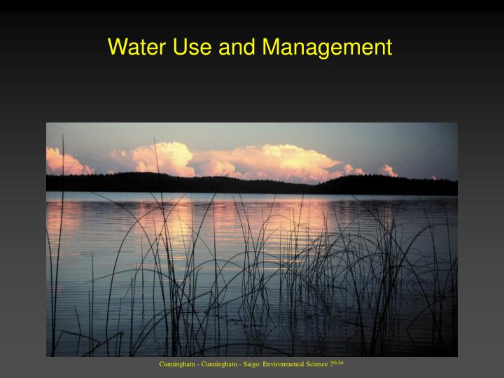 water use and management n.