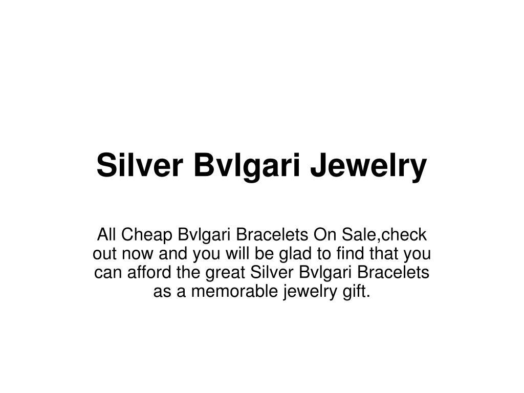 silver bvlgari jewelry l.