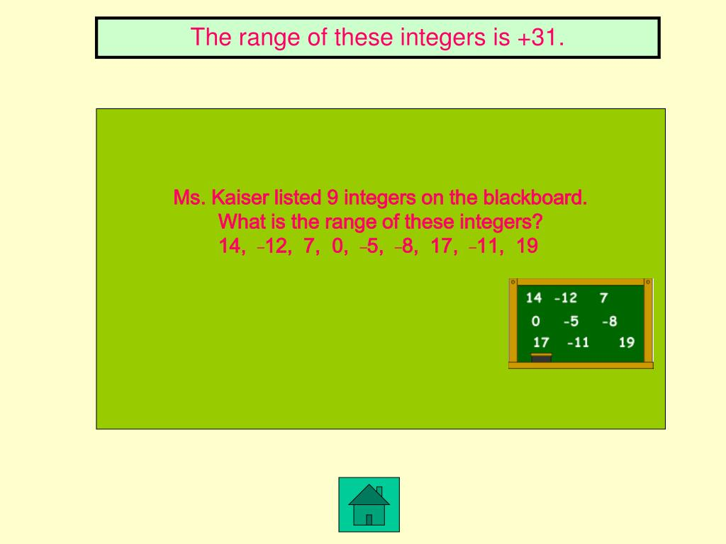 The range of these integers is +31.