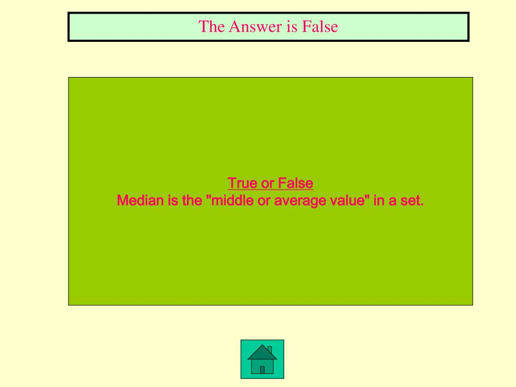 The Answer is False