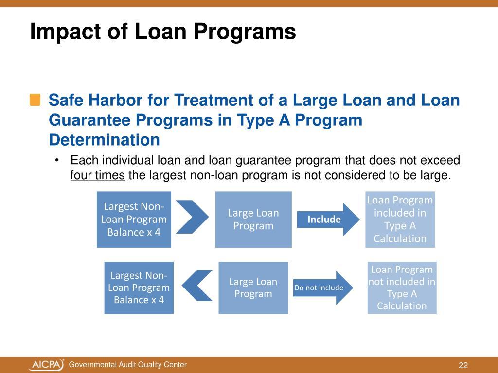 Impact of Loan Programs