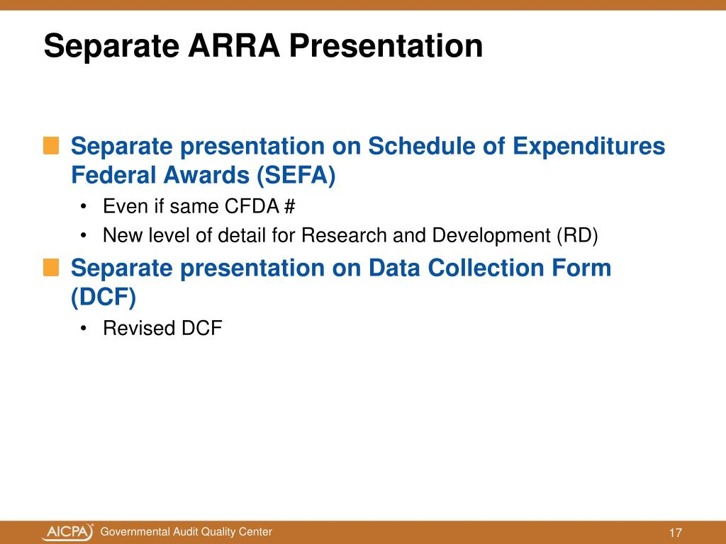 Separate ARRA Presentation